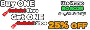 Bogo 25% Off Sale - Buy One OnSale Shoe Get One OnSale Shoes 25% Off