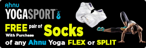 FREE pair of SOCKS with purchase of any AHNU Yoga Flex or Yoga Split