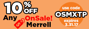 10% Off OnSale Merrell